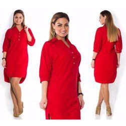 Дамска рокля Ambrosia  Червено-L / XL