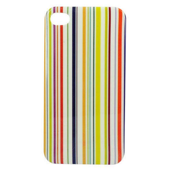 Plastový ochranný kryt na iPhone 4 a 4S - proužkovaný 1