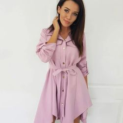 Дамска рокля в дизайн на риза Renys