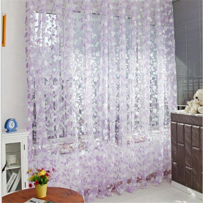 Moderna zavesa sa listovima - 3 boje 1
