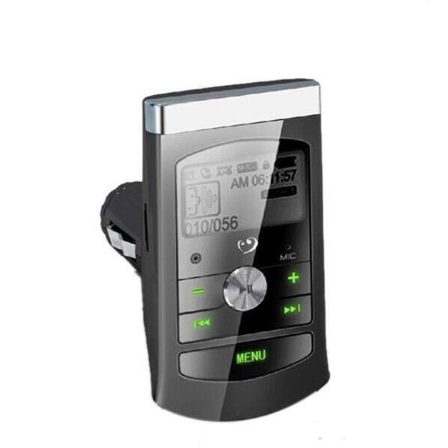 FM MP3 transmitter s LCD displejem, microSD + dálkové ovládání 1