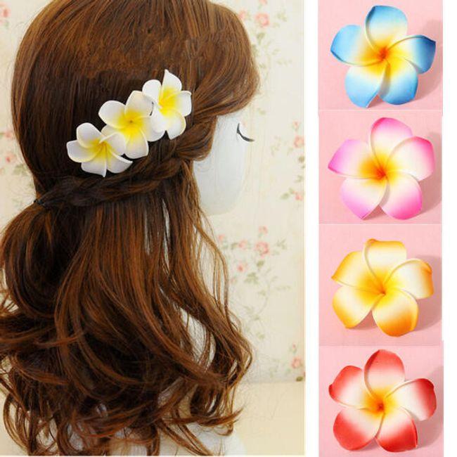 Virág a hajban, különböző színekben 1