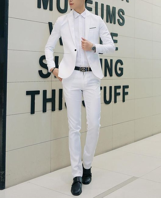 Pánský oblek - bílá. velikost č. 4 1