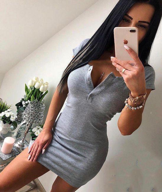 Jednobojna mini haljina - 3 boje 1