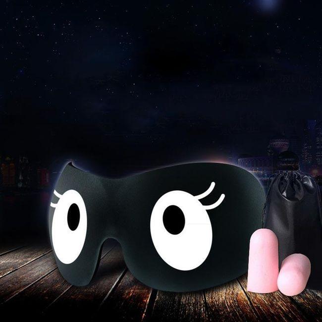 Maska na spaní se špunty do uší - 5 vzorů 1