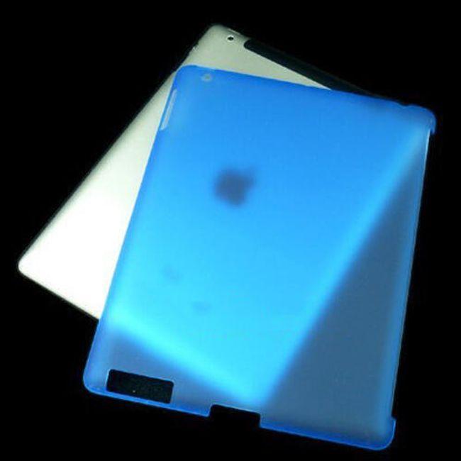 Průsvitný ochranný zadní kryt pro iPad 2 - modrý 1