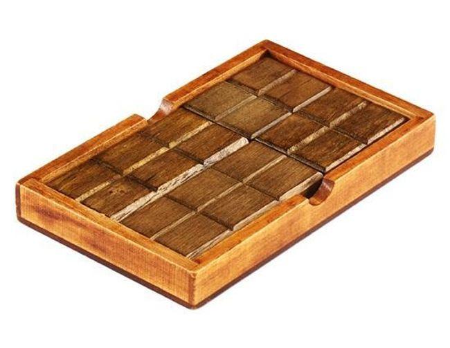 Drewniana zabawka edukacyjna w kształcie tabliczki czekolady 1