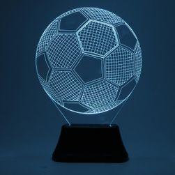 3D stolna lampa u obliku fudbalske lopte
