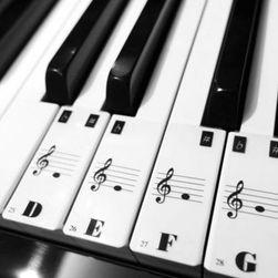 Наклейки в виде нот для маркировки клавиш