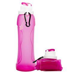 Składana silikonowa butelka na wodę - 3 kolory