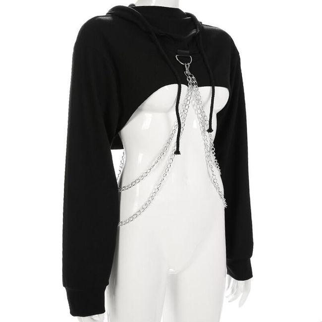 Kapşonlu kadın sweatshirt Cherelle 1