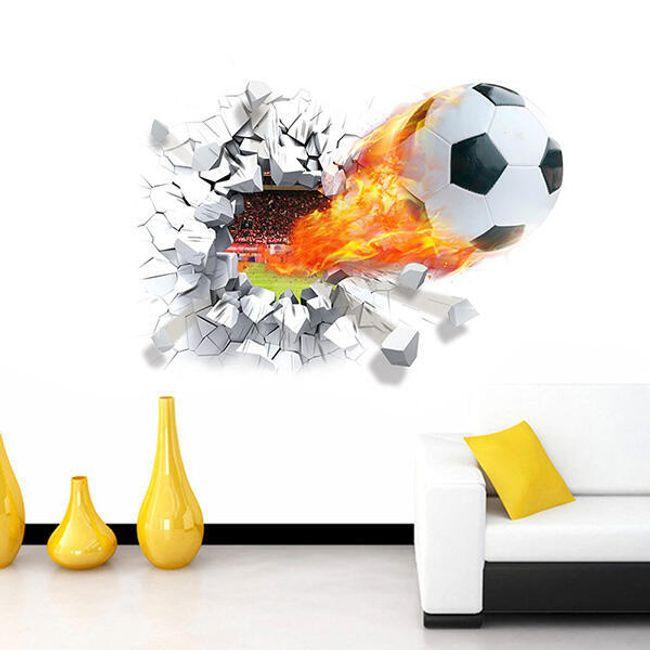 3D samolepka pro fotbalové fanoušky 1