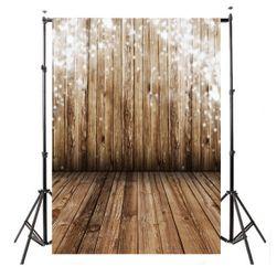 Tło fotograficzne 100 x 150 cm - Drewniana podłoga i ściana