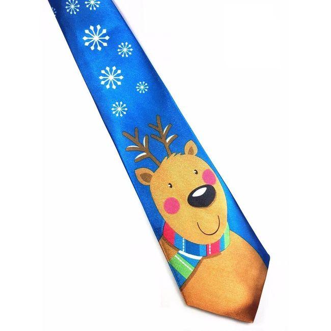Вратовръзка с коледни мотиви - 19 варианта 1