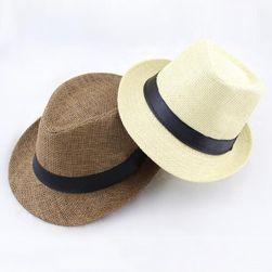 Сламена шапка с черна ивица - 6 цвята