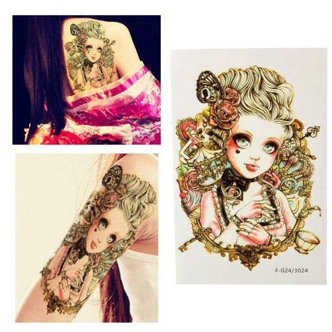 Переводная татуировка- Блондинка 1