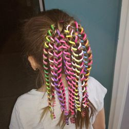 Barevná ozdoba do vlasů - 6 ks