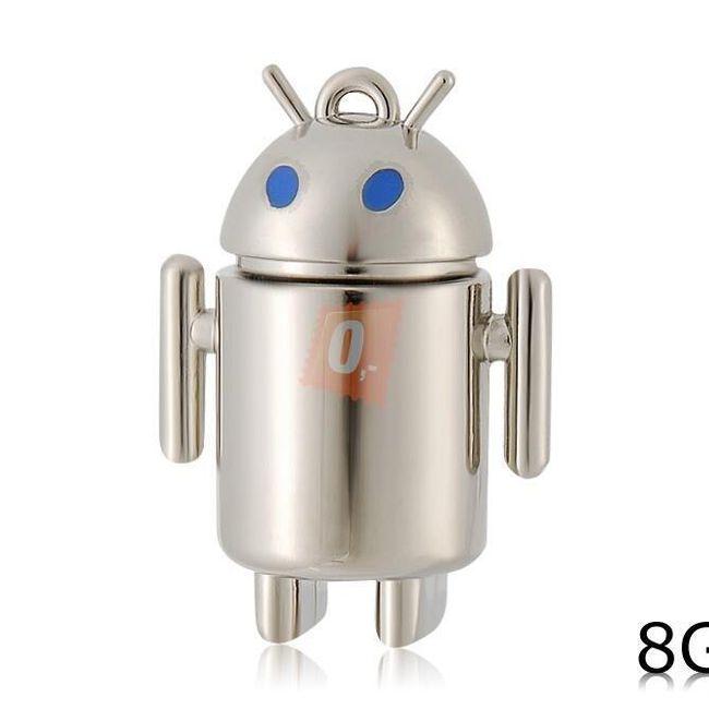 8GB Flashdisk - stříbrný android 1