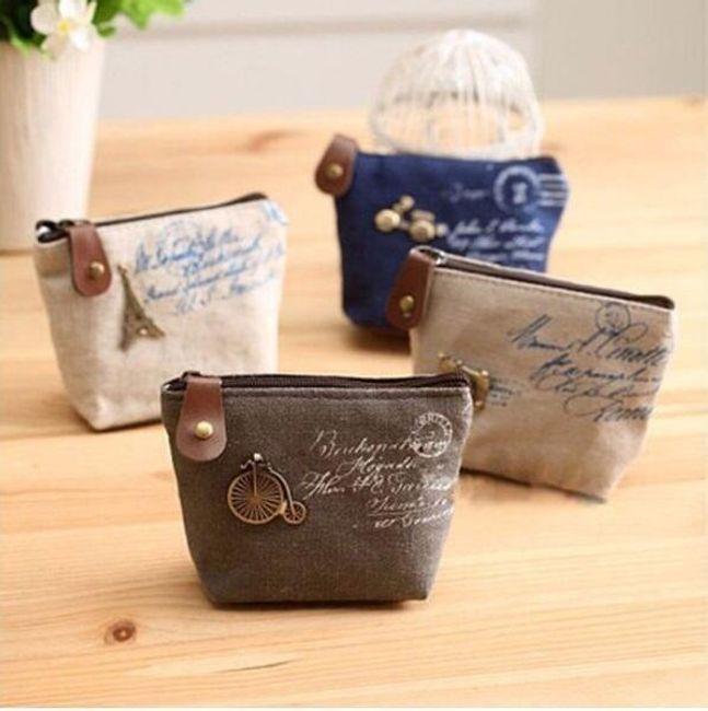Látková peněženka ve vintage stylu - 4 varianty 1