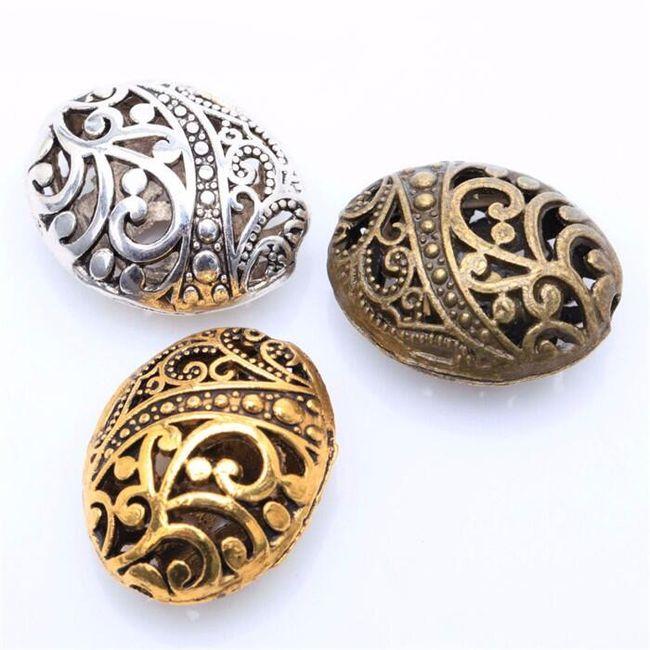 Kovinske kroglice z okraski - 10 kosov 1