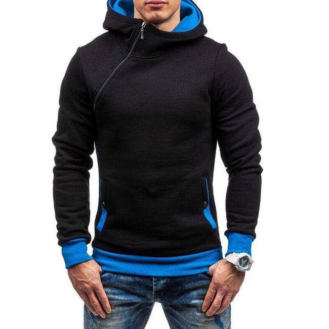 Férfi pulóver zippel az oldalán