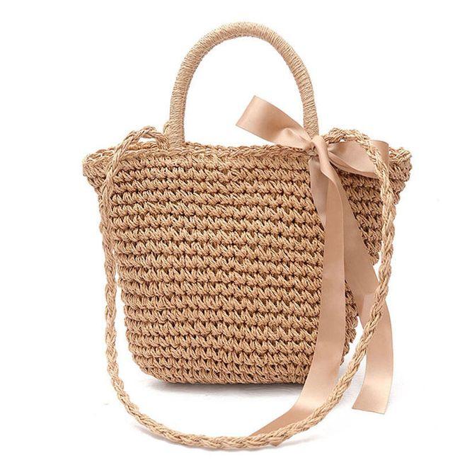 Соломенная пляжная сумка 1