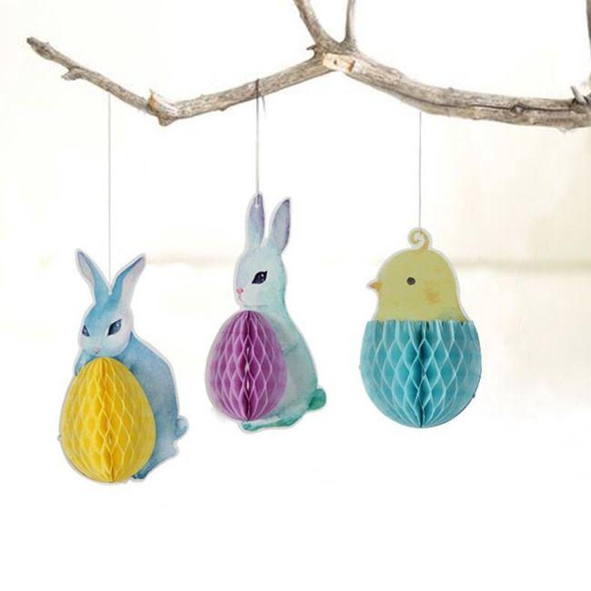 3 velikonoční závěsné dekorace 1
