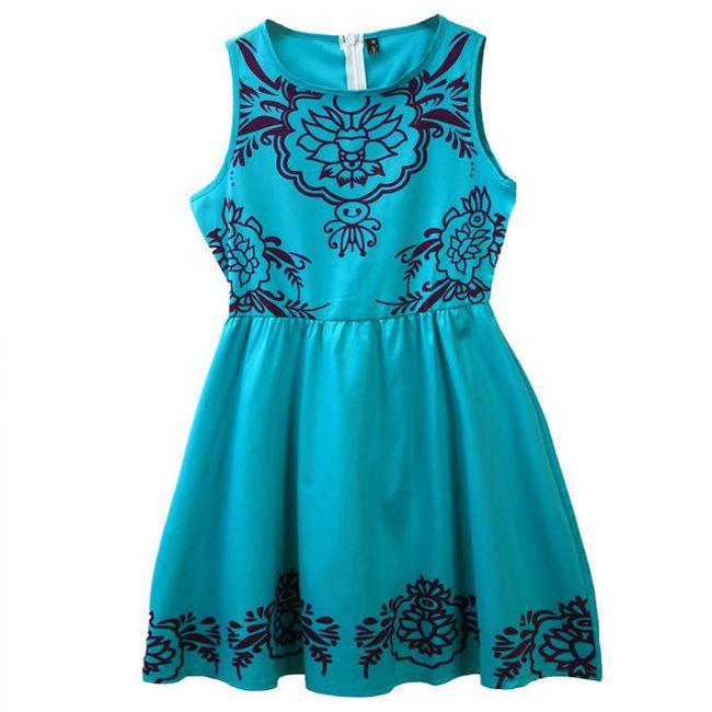 Zelené šaty se vzorem - velikost č. 4 1