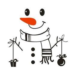 Коледен стикер - Снежен човек