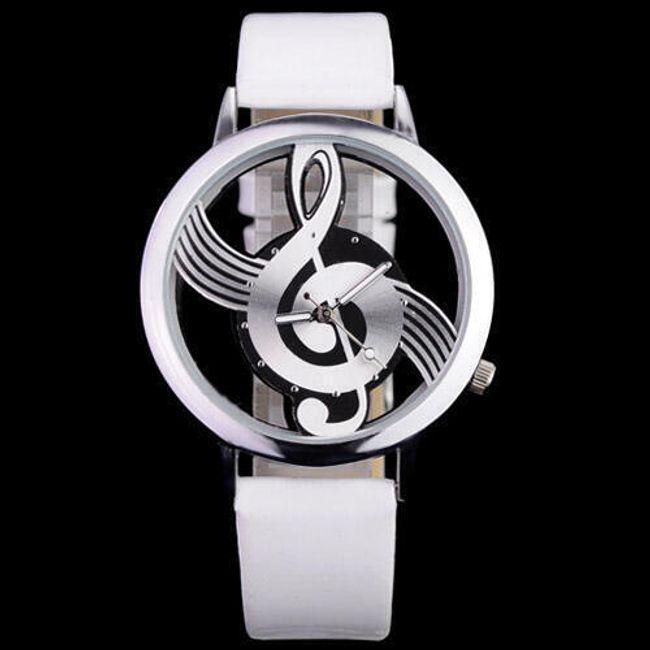 Analogové hodinky - ciferník houslový klíč 1