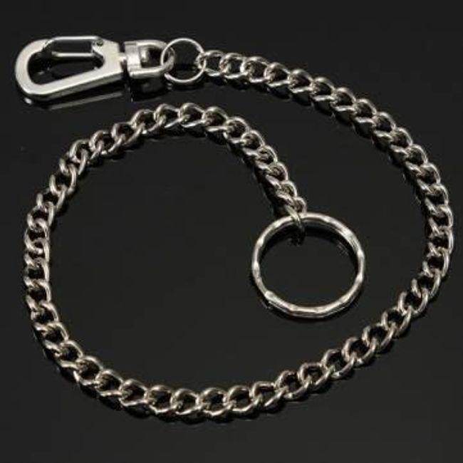 Kulcstartó ezüst színben - lánc 1