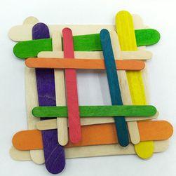DIY dřevěné tyčinky pro děti - 50 kusů