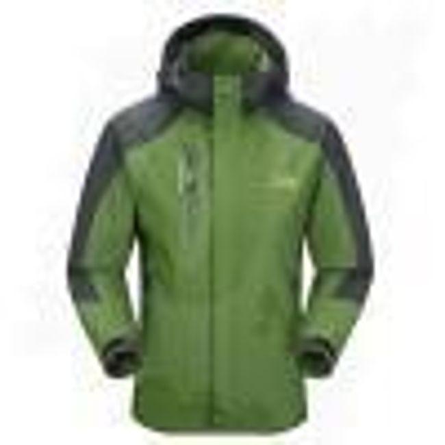 Pánská nepromokavá bunda - Zelená - velikost č. 4 1
