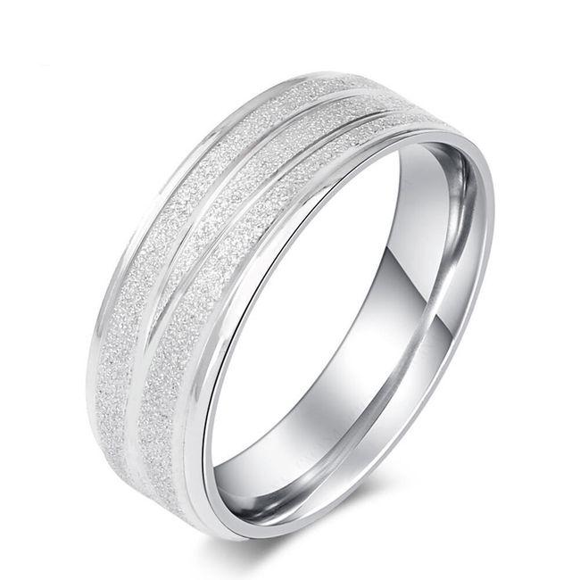 Pánský jednoduchý prsten s rýhami - 2 barvy 1