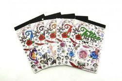 Kolorowe tatuaże 280szt w kostce zestaw 6 rodzajów 12,5x18,5x0,3cm RM_00541900