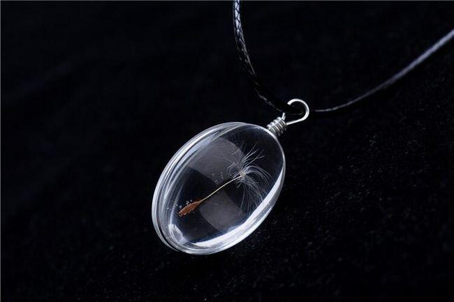 Karahindiba tohum cam kolye 1