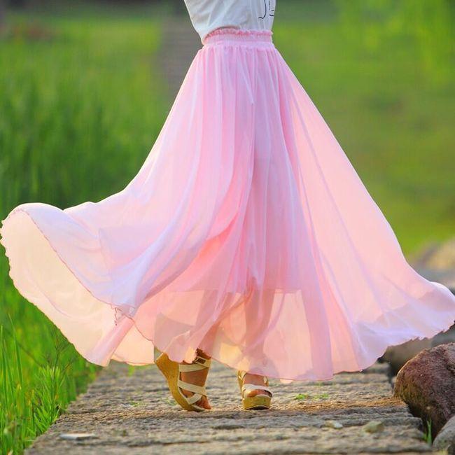 Sukně v pastelových barvách - 7 velikostí 1