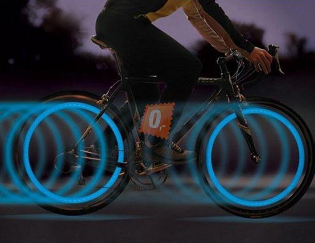 Rowerowy element bezpieczeństwa - LED oświetlenie, 2 sztuki 1