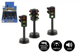Semafor funkční plast 12cm na baterie se světlem se zvukem RM_00850050