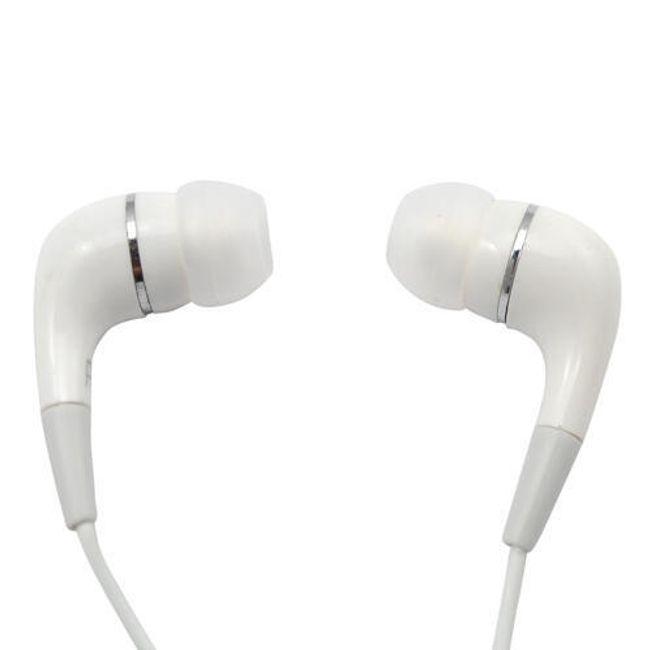Stereo sluchátka 3,5mm - špunty, bílé 1