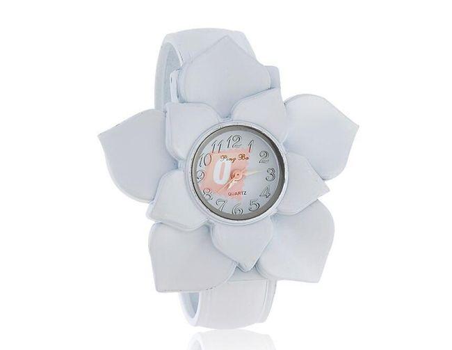 Dámské květinové hodinky - bílé 1