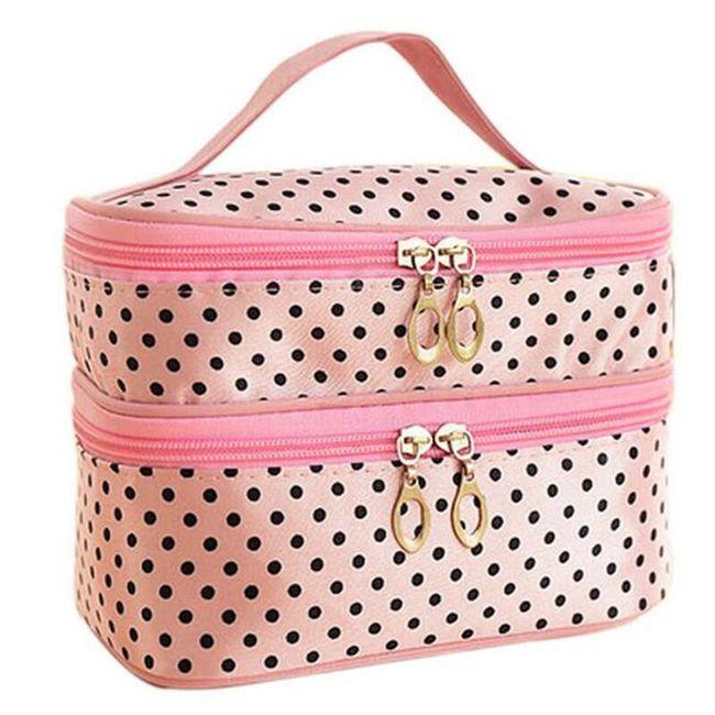Dvoposteljna kozmetična torba v številnih barvah 1