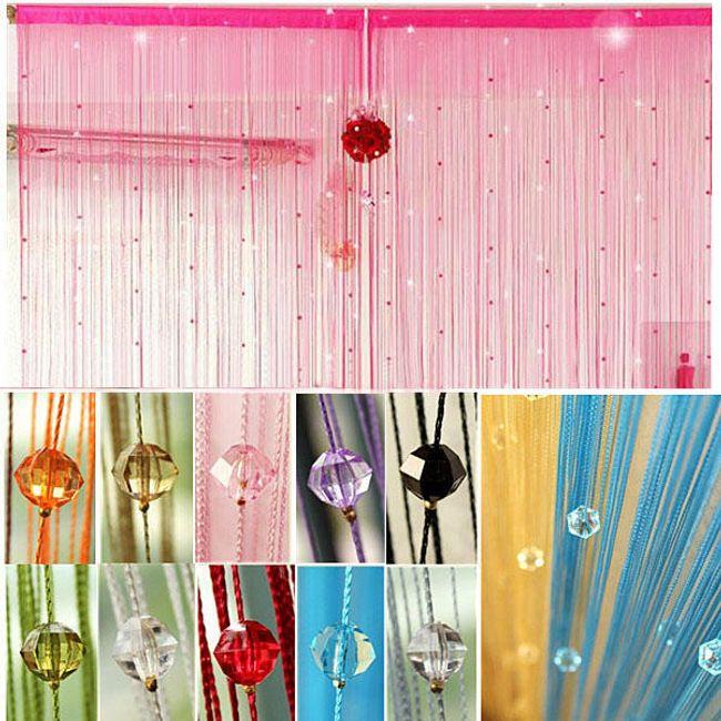 Веревочная штора в бусинами- разные расцветки 1