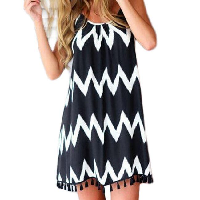 Lehké letní šaty s třásněmi - velikost č. 5 1