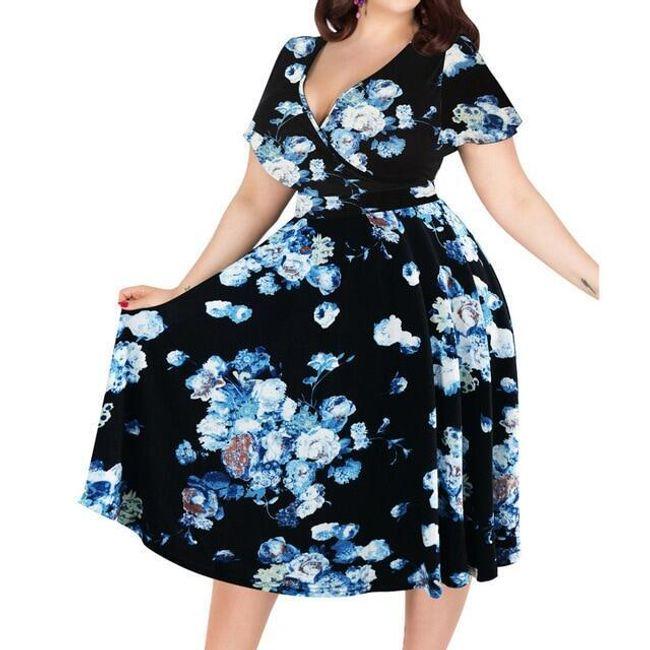 Dámské šaty plus size Leondra 1