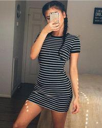 Pruhované mini šaty - 2 barvy