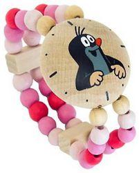 WOOD Girly Mole (Mole) Różowy zegarek na rękę z koralikami  SR_873519