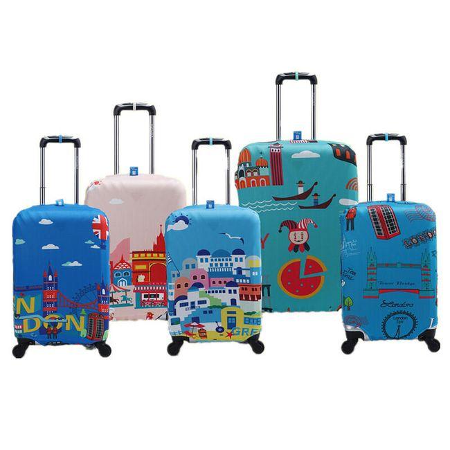 Ochranný kryt na kufr - barevné motivy 1