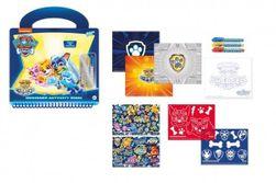 Kreatywna książeczka z szablonami Psi Patrol + 3 szt. długopisów 23x26cm  RM_88800003