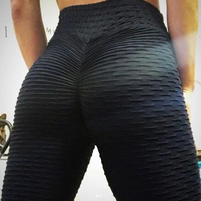 Fitness leggings nőknek műanyag mintával
